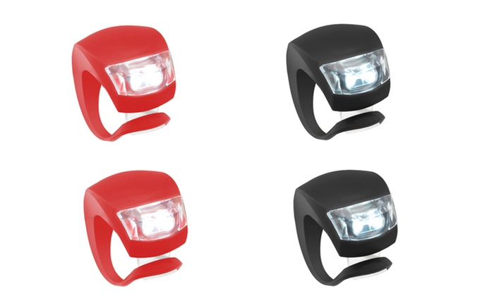 Silicone LED Bike Lights (4-Pack): Silicone LED Bike Lights (4-Pack)