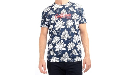 T-Shirt con stampa hawaiana