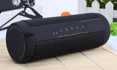 Enceinte Bluetooth 4.0 IPX5 étanche, avec lumière LED et Radio FM