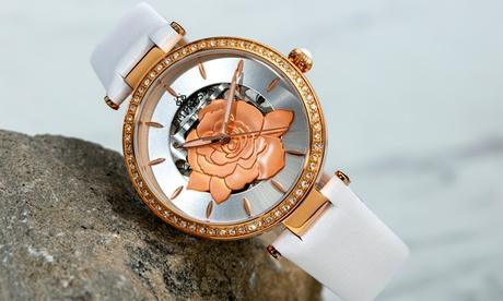 Reloj de cuero genuino semi-esquelético automático modelo Anne de la marca Empress