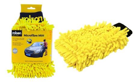 Guante de microfibra para la limpieza del coche Rolson por 6,99 € (61% de descuento)