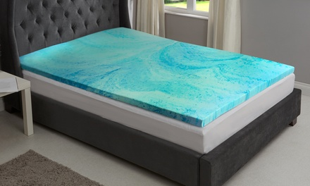 Cool Gel-Infused Memory Foam Mattress Topper