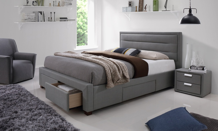 Colchester Four-Drawer Bed Frame with Optional Mattress