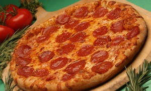 Potomac Pizza: $24 for Two Groupons, Each Good for One Large 16-Inch Pizza with Two Toppings at Potomac Pizza ($39.94 Value)