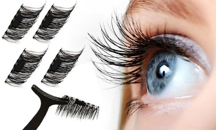 One-, Two- or Three-Pack of Magnetic Eyelash Extentions with Optional Tweezers