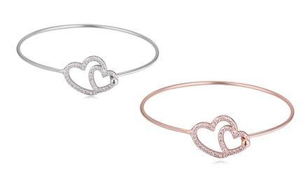 1 ou 2 bracelets Heart to Heart de la marque My Charms ornés de cristaux Swarovski®