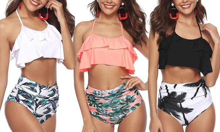 Wonderlijk Tot 50% op Tropische bikini met hoge taille   Groupon Producten WZ-63