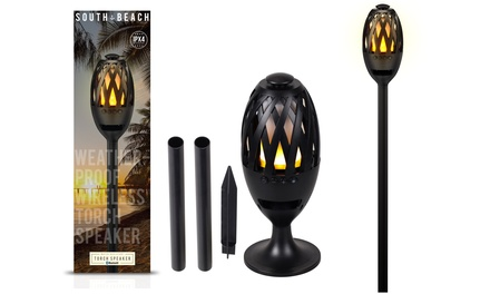 South Beach Wireless Bluetooth Water-Resistant Tiki Torch Speaker