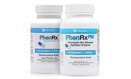 PhenRx and PhenRx PM Diet Pill Weight Loss Combo (90-Count)