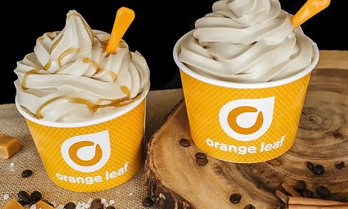 Orange Leaf - Multiple Locations: Frozen Yogurt at Orange Leaf (38% Off). Two Options Available.