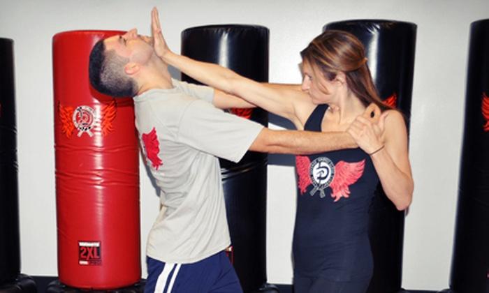 Krav Defense - Bethpage: 5 Krav Maga Classes or 10 Krav Maga Classes with a T-Shirt at Krav Defense (Up to 77% Off)