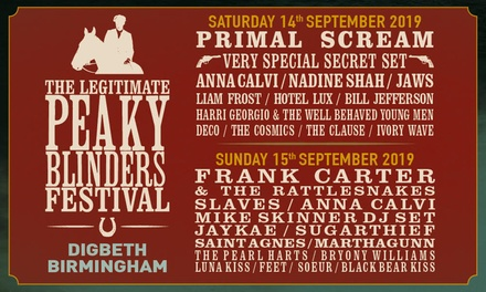 The Legitimate Peaky Blinders Festival, 14–15 September at The Digbeth Estate