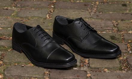 Redfoot Herren-Lederschuhe im Modell Gibson oder Toe Cap Oxford in Schwarz (Munchen)