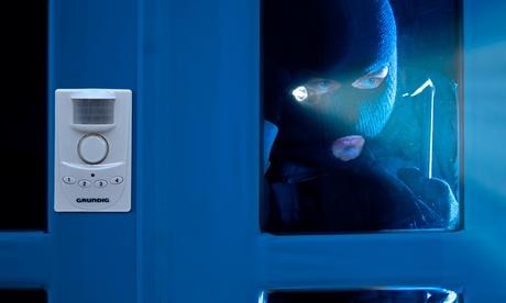 Alarma de seguridad con detector de movimiento y código Grundig
