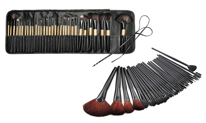 mac 32 piece professional makeup brush set mugeek vidalondon. Black Bedroom Furniture Sets. Home Design Ideas