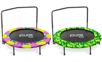 "Pure Fun 48"" Super Jumper Kids' Trampoline with Handrail"
