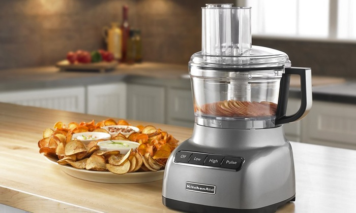 kitchenaid 7 cup food processor refurbished groupon