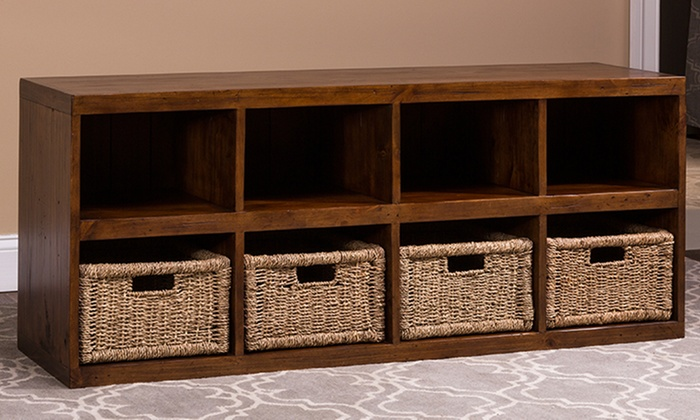 Wonderful Tuscan Retreat Storage Cube With Baskets