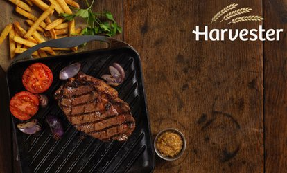 image for Steak, Ribs or Chicken Meal with a Choice of Drink and Unlimited Salad at Harvester, Nationwide