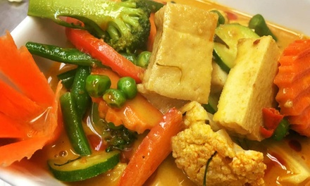 Dinner with Wine for 2 ($32), 4 ($63), 8 ($125), or a $40 Voucher ($20) at Sairung Thai Restaurant (Up to $243.20 Value)
