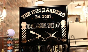 The Inn Barbers: Men's Haircut with Wash and Head Massage with Optional Deluxe Wet Close Shave at The Inn Barbers (Up to 72% Off)