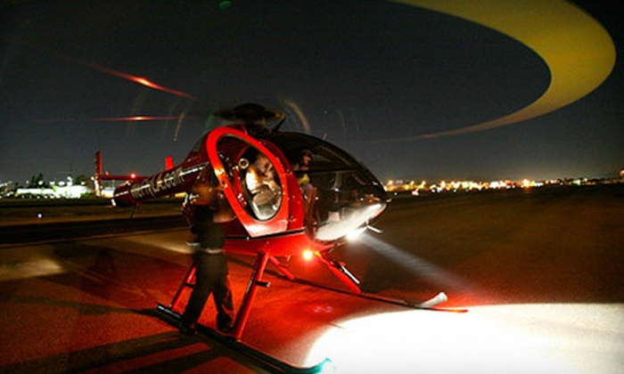 Adventure Helicopter Tours - Pacoima: Twilight Tour for 2, or Party with Helicopter Ride for Up to 10 from Adventure Helicopter Tours (Up to 55% Off)