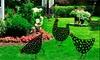One or Five Chicken Art Garden Statues