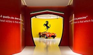 Discover Ferrari & Pavarotti Land: Alla scoperta del mondo Ferrari, della Casa Museo Pavarotti con degustazioni incluse e servizio navetta per la giornata