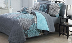 Reversible Quilt Set with Sheets and Pillows (9-Piece) at Reversible Quilt Set with Sheets and Pillows (9-Piece), plus 6.0% Cash Back from Ebates.