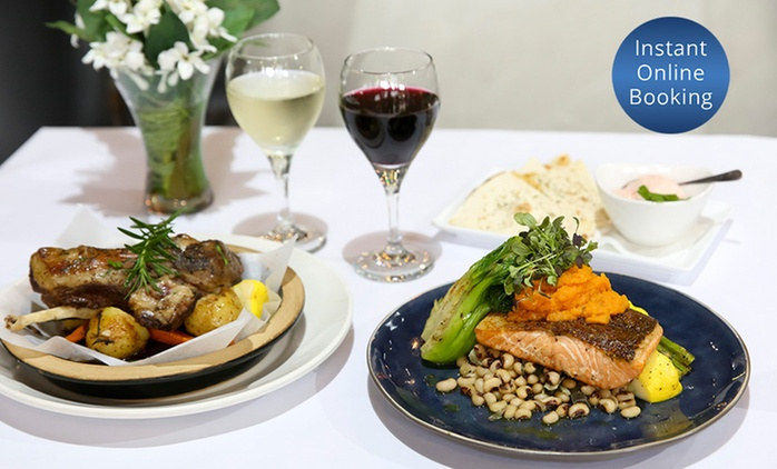 Greek Dinner with Wine for Two ($39) or Four People ($77) at Georgia's Kitchen, Marrickville (Up to $156 Value)