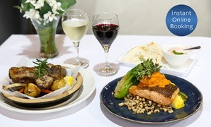 Georgia's Kitchen: Greek Dinner with Wine for Two ($39) or Four People ($77) at Georgia's Kitchen, Marrickville (Up to $156 Value)