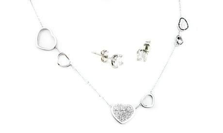 1 o 2 sets de pendientes y collar modelo Heart