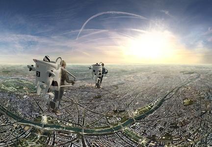 Vol au dessus de Paris en réalité virtuelle en jetpack pour 1 personne avec 1 photo à 12,90 € avec FlyView