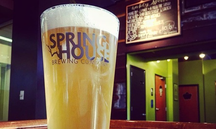 Brewery Experience for One, Two, or Four at Spring House Brewing Company (Up to 32% Off)