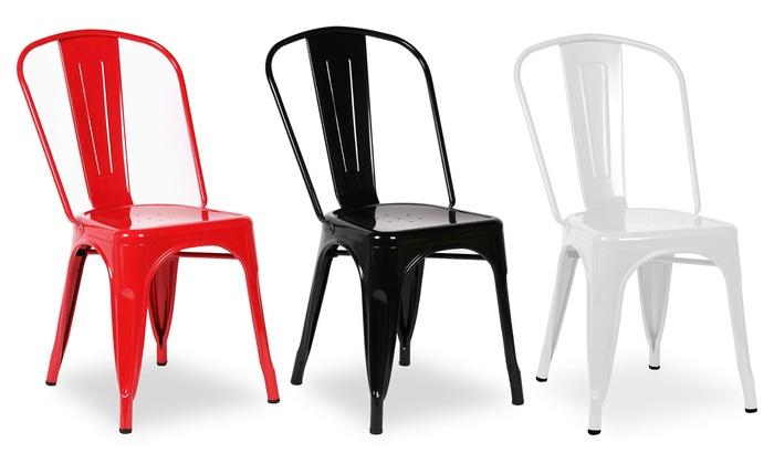 Set da 5 sedie industrial groupon goods for Sedie industrial style