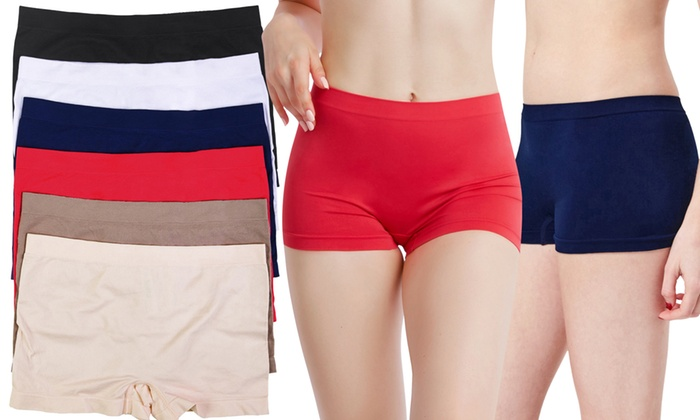 4df64802a5a0 Up To 50% Off on Women's Boyshorts (6-Pack) | Groupon Goods