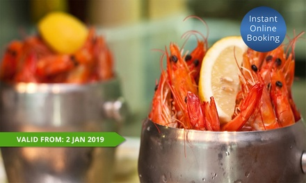 Buckets of Prawns with Bottle of Wine for 2 ($35), 4 ($69) or 6 People ($99) at Blue Fish Restaurant (Up to $255 Value)