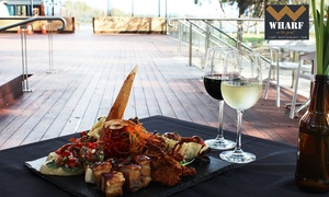 Wharf on the Point: Sharing Platter and Glass of Wine for 2 ($39), 4 ($75) or 6 People ($110) at Wharf on the Point (Up to $225 Value)