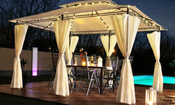 Minzo Gazebo With Led Lights Groupon Goods