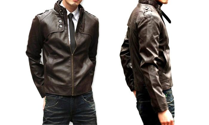 fa1064625596 Veste en simili cuir pour homme   Groupon Shopping