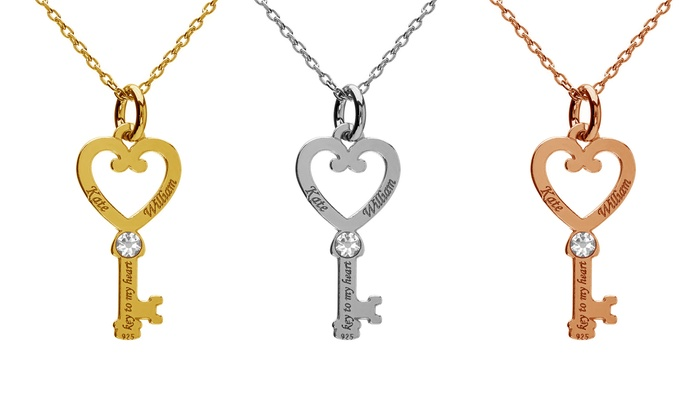 up to 89 off on personalized key necklaces groupon goods