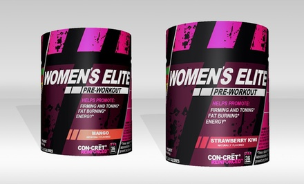 36-Serving Bottle of ProMera Sports Women's Elite Pre-Workout Supplement in Mango or Strawberry Kiwi