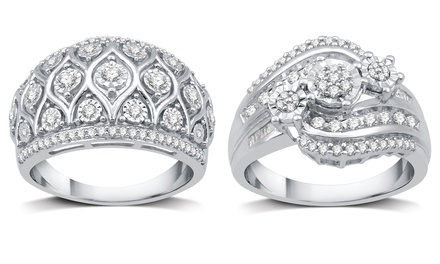 1/2 CTTW Diamond Fashion Rings in Sterling Silver by DeCarat