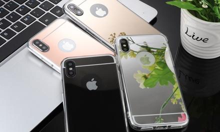 Cover in silicone con vetro temperato per iPhone disponibili in 4 colori e diversi modelli