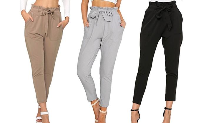 3f8b1b4d22df9e Groupon Pantalon Shopping Pantalon Femme Femme q8PBTZ