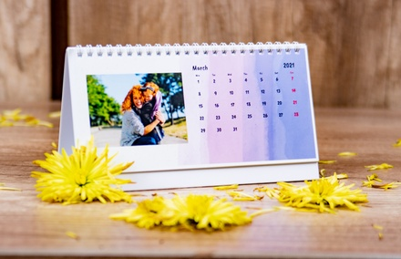 Personalized 8''x5'' Desk Calendars from Colorland (Up to 76% Off)