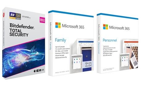 Microsoft 365 personal o familiar y Bitdefender Total Security (envío gratuito)