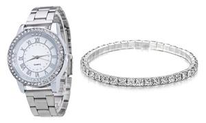 Montre et bracelet pour femmes