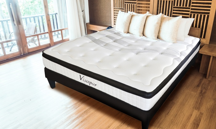 matelas viscopur en latex et m moire de forme groupon. Black Bedroom Furniture Sets. Home Design Ideas