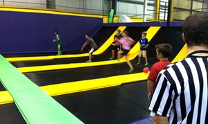One- Or Two-hour Big Air Jump Sessions For Two At Get Air (up To 58% Off). Four Options Available.